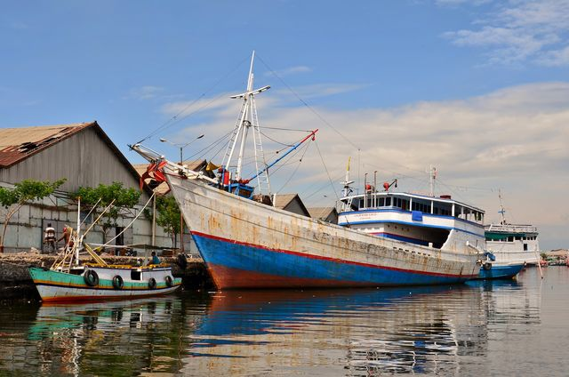 Visboten haven Probolinggo Java Indonesië